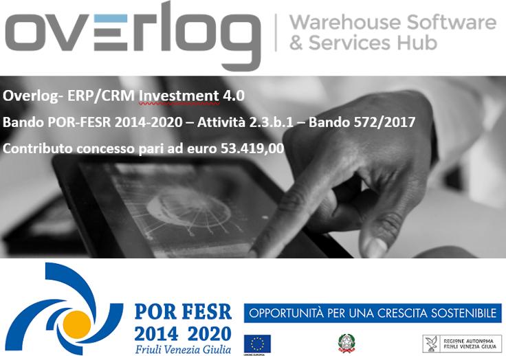 """progetto Overlog """"ERP/CRM Investment 4.0"""" - bando POR-FESR 2014-2020"""