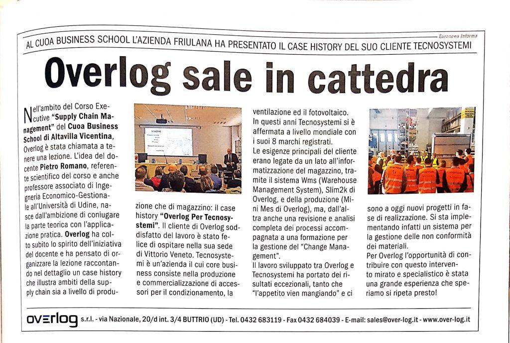 Overlog sale in cattedra